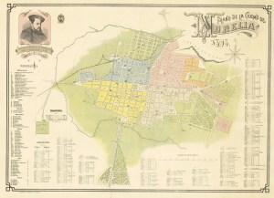 Plano de la Ciudad de Morelia, 1898. Escuela Industrial Militar Porfirio Díaz.