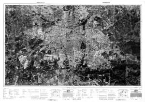 Fotomapa de Morelia (composIción de 2 fotomapas), 1980, INEGI.