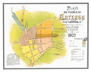 Pueblo de Arteaga, 1907.