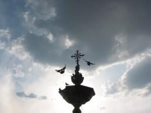 Paz y Bien, fuente de la Plaza Valladolid, Morelia