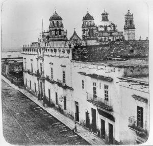 Colegio de San Nicolás y conjunto de los Jesuitas, hacia 1880