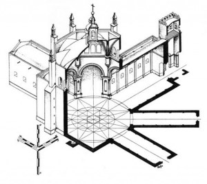 Isométrico de la Catedral de San Salvador
