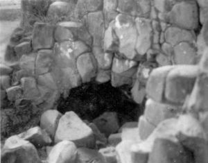 Entrada a El Barreno. Dr. Jesús García Tapia, 1956.