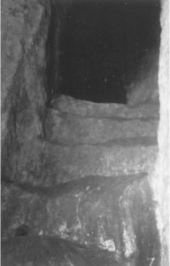 Escaleras en el túnel principal de El Barreno, 1956.