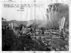 Garita de Chicácuaro o del poniente, explosión, 20 de enero de 1933