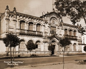 Fachada del Hospital General, 1901-1950.