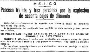 Nota de El Heraldo de Madrid, página 3.
