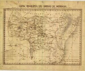 Carta Geográfica del Estado de Michoacán, 1862.