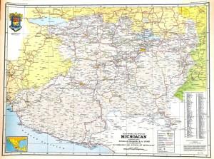Carta General del Estado de Michoacán, 1983. Fuente: Biblioteca Conjunta de Ciencias de la Tierra (BCCT), UNAM.