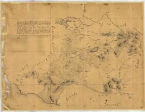 Mapa Michoacán según datos de Juan José de Lejarza 1822