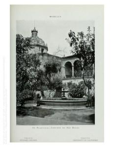 Jardín de Las Rosas, hoy Luis González Gutiérrez. Erróneamente identificado como Plazuela del Convento de San Diego.