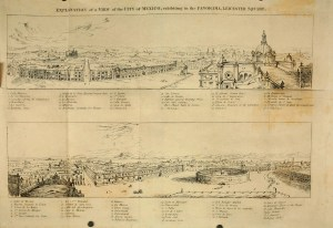 Vista de la ciudad de México en 1823