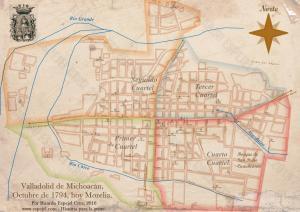 Postal de Valladolid-Morelia 1794