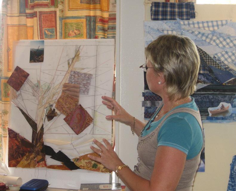 Lena tegner og forteller om sitt Grand Canyon-bilde