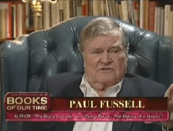 Paul Fussell interview