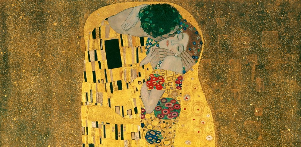 """The Kiss"" by Gustav Klimt (detail)"