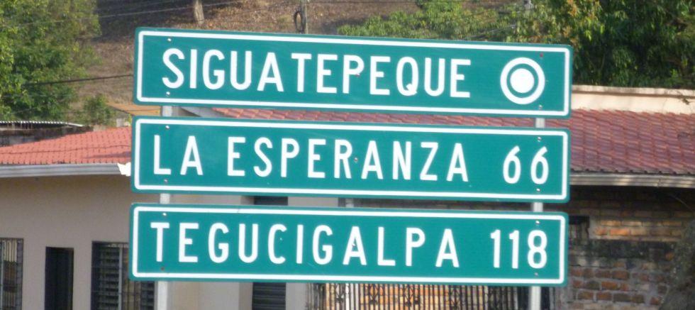 Honduras Esperanza Sign