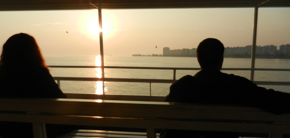 Izmir Turkey Ferry Sunset