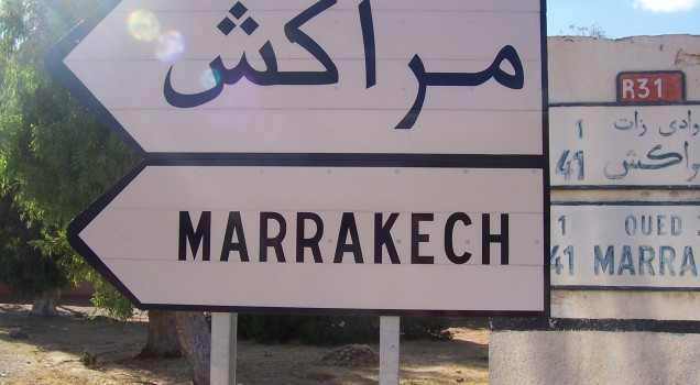 Marrakech Sign Morocco