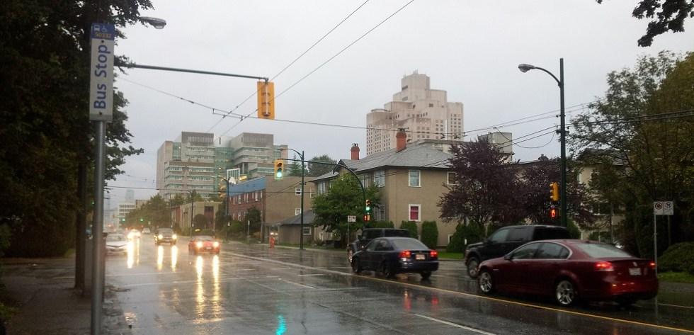 Rainy Vancouver Bus Stop
