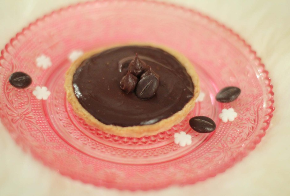 Tartelettes chocolat-café par Esperluette