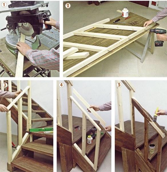 Come costruire una ringhiera in legno con il fai da te