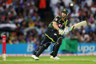 Matthew Wade got to a fifty off 34 balls, Australia v India, 1st Twenty20, Stadium Australia, Sydney, February 1, 2012