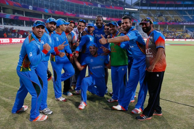 However, they collapsed in a low-intensity chase and were limited to 117 for 8, losing the dead rubber by six runs. After the game, the Afghanistan players wanted a photo with Gayle and he graciously obliged. West Indies finished top of their group, though, and qualified for the semi-final in Mumbai