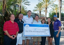 George Bodenheimer (fourth from left) has played an integral role for nearly 20 years helping to build The V Foundation and will now focus his attention on helping to continue to raise money for the Foundation. (Joe Faraoni/ESPN Images)