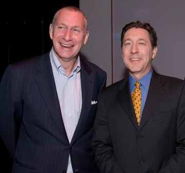 "ESPN President John Skipper (l) on the man he succeeded, George Bodenheimer (r): ""It is impossible to completely capture the impact George has had on our company and on so many of us during his remarkable 33 years with ESPN."" (Lorenzo Bevilaqua/ESPN Images)"