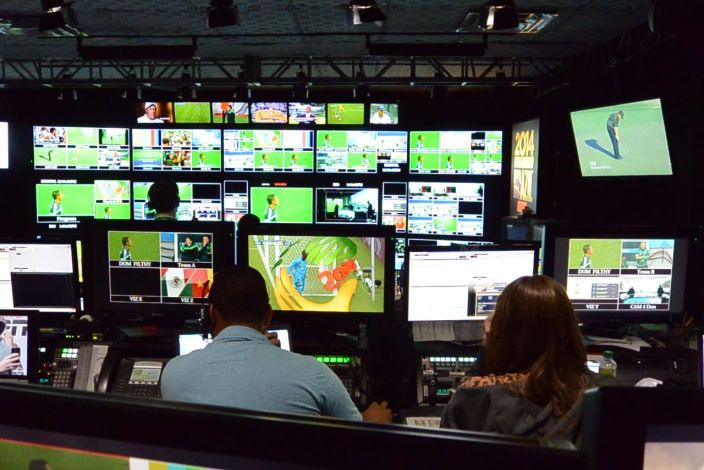 A World Cup control room (Mike Soltys / ESPN)