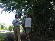 E:60 reporter Jeremy Schaap (left) interviewed Dallas Cowboys TE Jason Witten in Tennessee. (E:60)