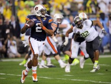 Oregon vs. Auburn (Jan. 10, 2011): ESPN's most-watched telecast of the BCS era (27,316,000 viewers) featured Auburn quarterback Cam Newton leading the Tigers to a 22-19 victory over Oregon in 2011 BCS National Championship game. (Joe Faraoni/ESPN Images)