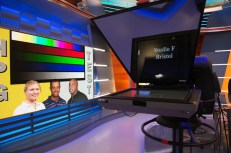 The studio is highlighted by the touchscreen, a 144-inch LED monitor and a new style ticker for scores and information. (Rich Arden/ESPN Images)