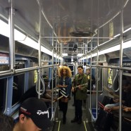ESPN conducted a shoot with LION BABE on April 12 on the Chicago subway system. (Lucas Nickerson/ESPN)