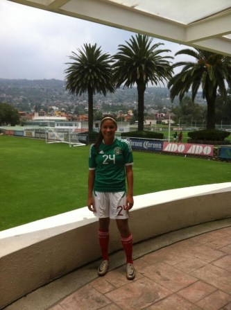 Erika Garcia at a national team camp last summer right outside of Mexico City at Centro de Alto Rendimiento. (Photo courtesy Erika Garcia)