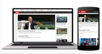 ESPN Colombia is one of six Spanish-language websites ESPN relaunched Dec. 1.