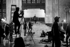 G-Eazy, an Oakland native and longtime Warriors fan, shot the video with ESPN's Features Unit on Sunday, Dec. 13, inside Oakland's historic 16th Street Station.(Grady Brannan)