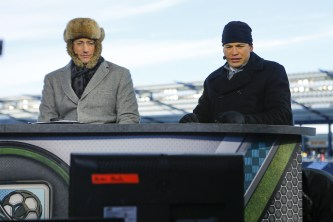 ESPN's Kasey Keller (left) and Alejandro Moreno - seen here during coverage of the 2013 MLS Cup in Kansas City - are in Columbus, Ohio, this weekend to provide analysis of 2015 MLS Cup. (Kyle Rivas/ESPN Images)