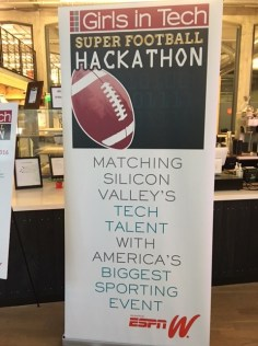 "The Super Football Hackathon event challenged female mobile developers, designers and product developers to create smart phone apps that would enhance the Bay Area visitor experience during ""Super Football Week.""(Sereita Cobbs/ESPN)"