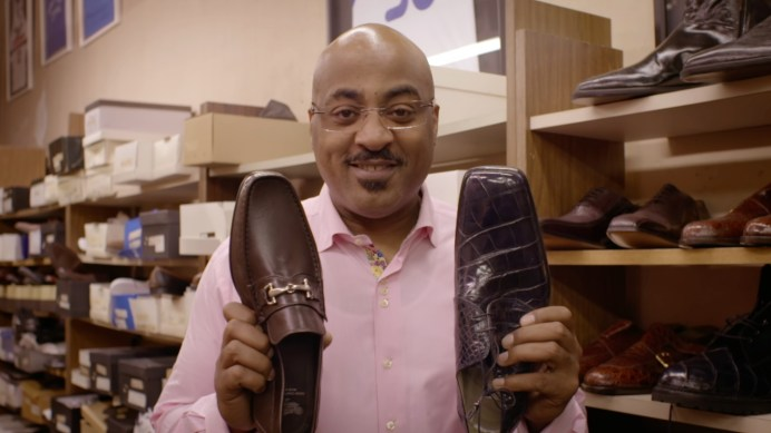 "Former NBA and Georgia Tech star Dennis Scott lends customer perspective to ""Friedman's Shoes."" (ESPN Films)"