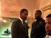 The Jump went behind the scenes at the White House with Cavaliers stars J. R. Smith (L) and LeBron James (center). (Photo courtesy of Rachel Nichols' Twitter feed)