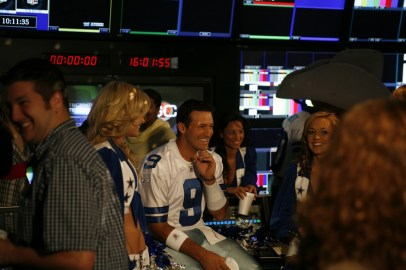 """Tony Romo smiles during the filming of a """"This is SportsCenter"""" spot.(Scott Clarke/ESPN Images)"""