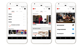 Disney/ABC and ESPN networks now streaming on YouTube TV. (Photo illustration courtesy of Google)