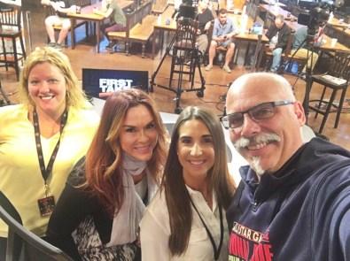 (L-R) Cindy Pennington, Justine DeLuco, Elizabelth (Liz) Edwards and Lance Palmieri. (Lance Palmieri/ESPN)