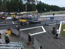 IHRA Summit Sportsman cars on the starting line at Piedmont Dragway in Julian, NC. (Andy Hall/ESPN)