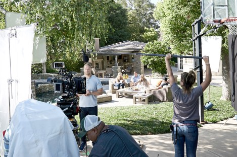 NFL star Clay Matthews III shoots a PS Vue spot with his family at his parents' home. (Lucian McAfee/All Rights Reserved)
