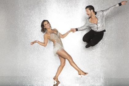 "SportsCenter's Victoria Arlen (L) and Valentin Chmerkovskiy are among the competitors in the new season of ""Dancing with the Stars."" (ABC/Craig Sjodin)"