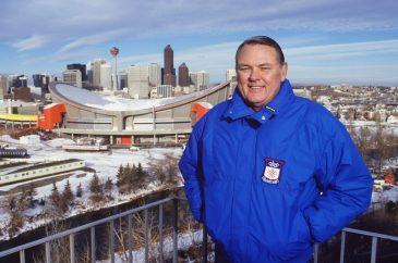 ABC Sports commentator Keith Jackson called the 1988 Calgary Winter Olympics. (Steve Fenn/ABC )