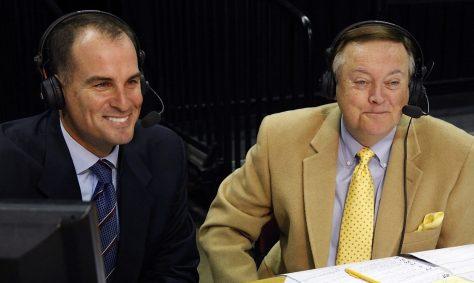 2009: Jay Bilas (L) with Mike Patrick (Don Juan Moore/ESPN Images)